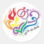 El amor es amor: Gay Pegatina