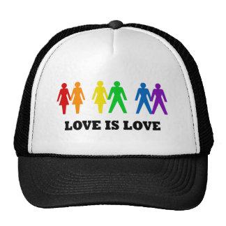 El amor es amor gorras de camionero