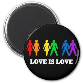 El amor es amor imán redondo 5 cm