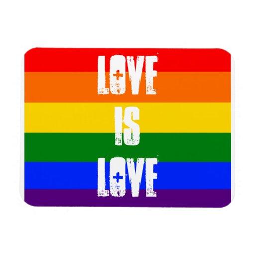El amor es amor imán de vinilo