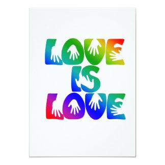 """El amor es amor invitación 5"""" x 7"""""""
