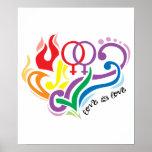 El amor es amor: Lesbiana Póster