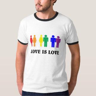 El amor es amor. LGBT Playera