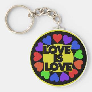 El amor es amor llavero redondo tipo pin