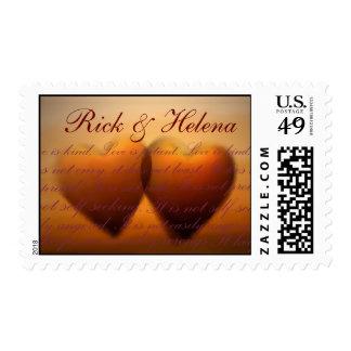 El amor es… amor paciente es bueno timbres postales
