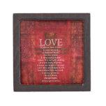 El amor es amor paciente es verso bueno de la bibl cajas de joyas de calidad