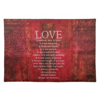 El amor es amor paciente es verso bueno de la bibl manteles