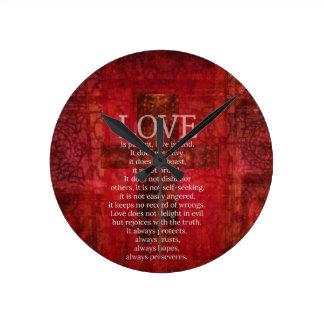 El amor es amor paciente es verso bueno de la bibl reloj redondo mediano