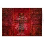 El amor es amor paciente es verso bueno de la bibl tarjeta