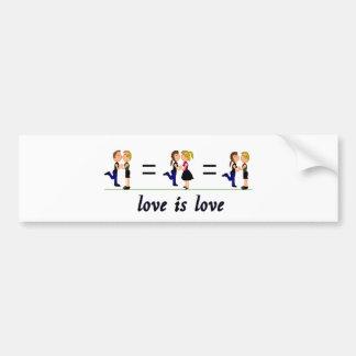 El amor es amor pegatina para auto