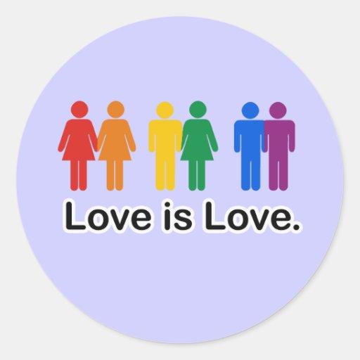 El amor es amor pegatina redonda