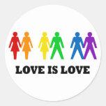 El amor es amor pegatinas redondas