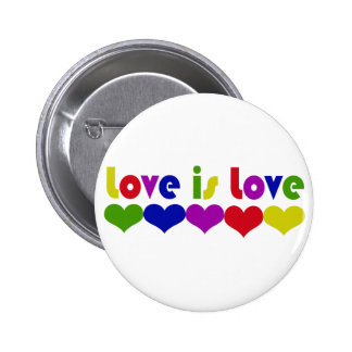 El amor es amor pin redondo de 2 pulgadas