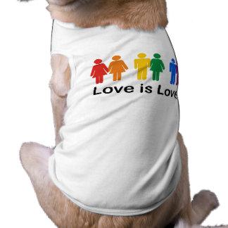 El amor es amor playera sin mangas para perro