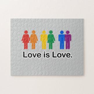 El amor es amor puzzles con fotos