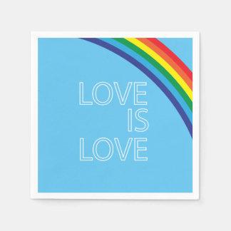 El amor es amor servilletas de papel