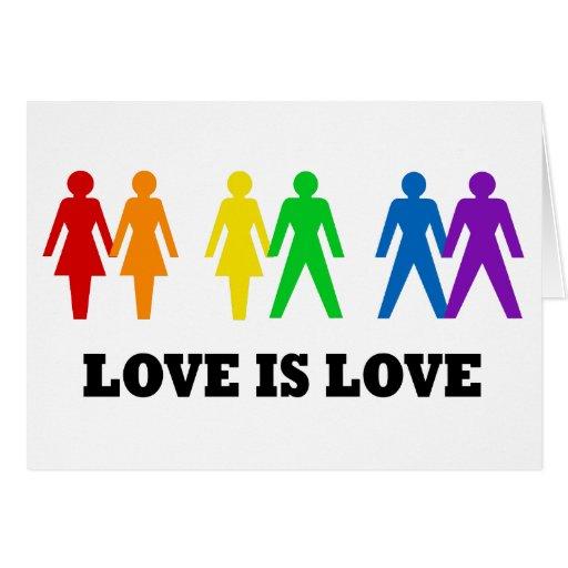 El amor es amor tarjeta de felicitación
