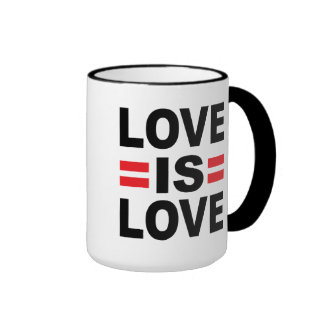 El amor es amor taza de dos colores