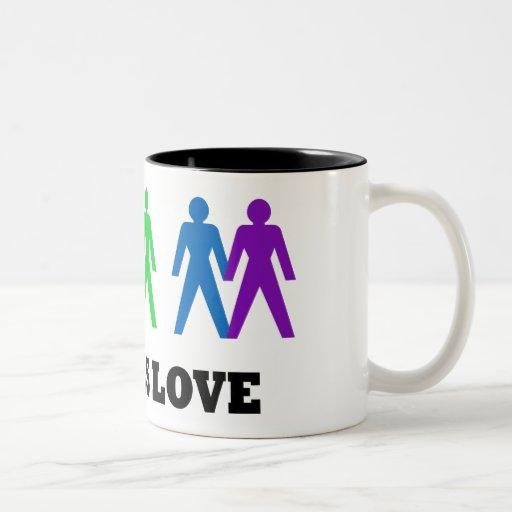 El amor es amor tazas de café