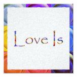 El amor es arco iris invitación 13,3 cm x 13,3cm
