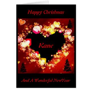 """El """"amor es ardiendo en el navidad """" * tarjeta de felicitación"""