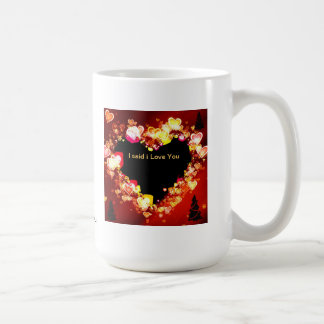 """El """"amor es ardiendo en el tiempo del navidad"""" * taza básica blanca"""
