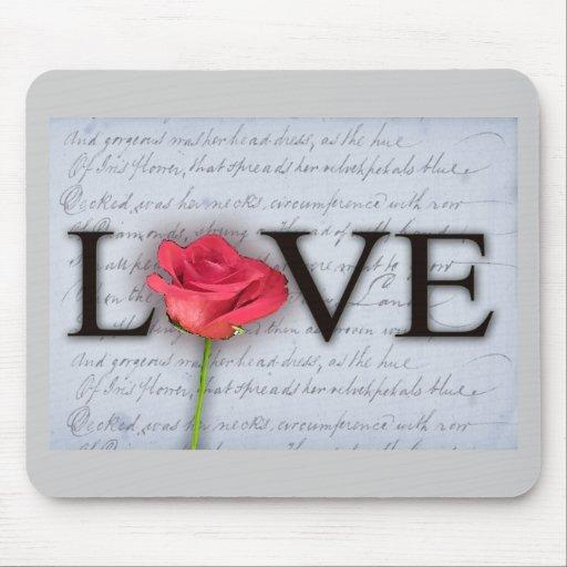 El amor es azul… con un color de rosa tapetes de ratones