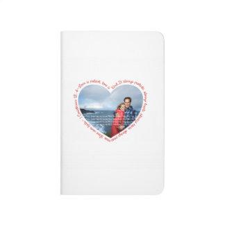 El amor es blanco y rojo pacientes del corazón de  cuadernos grapados