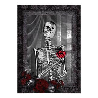 El amor es boda gótico eterno invitación personalizada