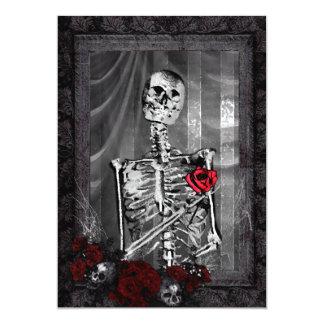 """El amor es boda gótico eterno invitación 5"""" x 7"""""""