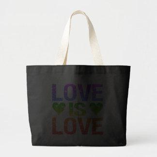 El amor es bolso del amor - elija el estilo bolsa tela grande