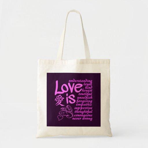 El amor es… bolso - elija el estilo y el color bolsa lienzo