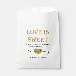 El amor es bolsos dulces del boda del negro y del bolsas de recuerdo