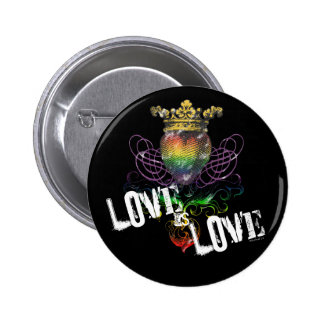 El amor es botón de Drk del amor Pin Redondo De 2 Pulgadas