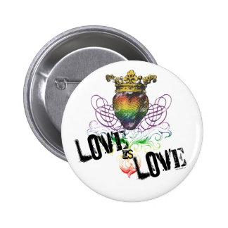 El amor es botón del amor pin redondo de 2 pulgadas