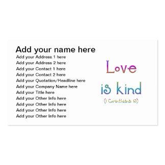 """El """"amor es bueno """" tarjetas de visita"""