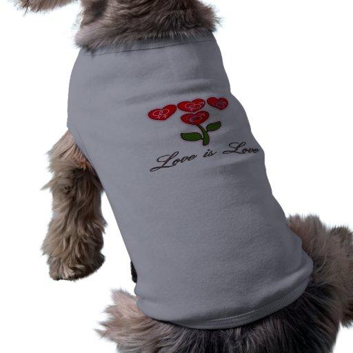 El amor es camisa del mascota del amor camisa de mascota