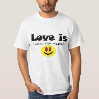 El amor es camiseta poleras