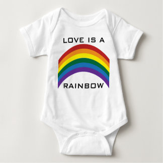 El amor es camisetas de los niños de un arco iris polera
