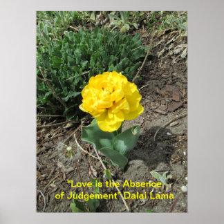 El amor es cita de Dalai Lama Posters