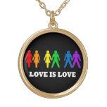 El amor es collar de la plata esterlina del amor