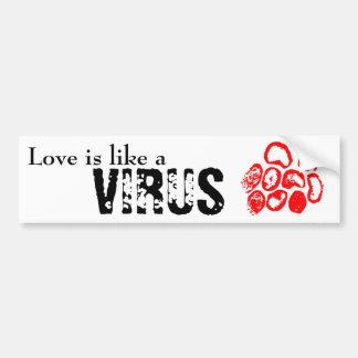 El amor es como a pegatina de parachoque