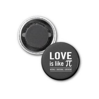 El amor es como el pi imán redondo 3 cm