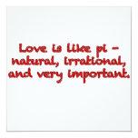 El amor es como el pi - invitaciones personales