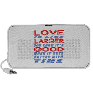 El amor es como más grande laptop altavoz