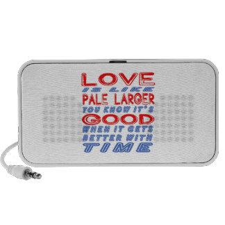 El amor es como más grande pálido iPhone altavoz