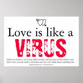 El amor es como un virus posters