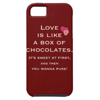 El amor es como una caja de chocolates iPhone 5 Case-Mate cobertura
