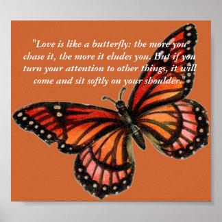 """El """"amor es como una mariposa: más… póster"""