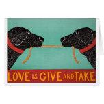 El amor es concesión mútua-- tarjeta de Stephen Hu